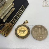 18k Japan Yellow Gold Elizabeth/ Year of the Pig Pendant (best for 2019)