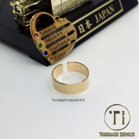 18k Japan Yellow Gold Plain Toe Ring