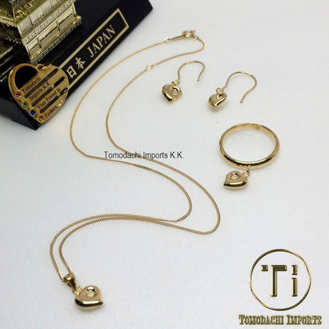 18k Japan Yellow Gold Monaka Set