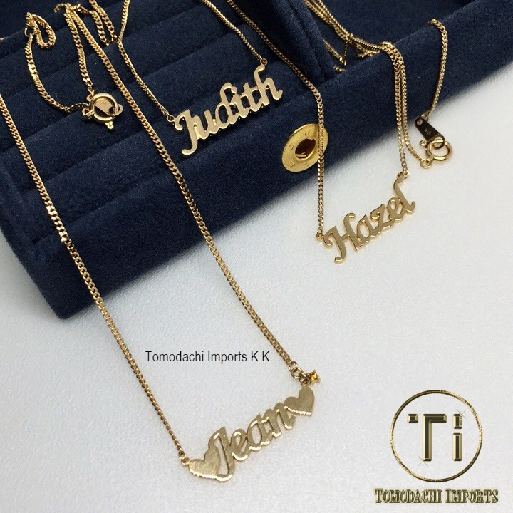 18k Japan Yellow Gold 2 cut 2g Akesha Pendant Necklace