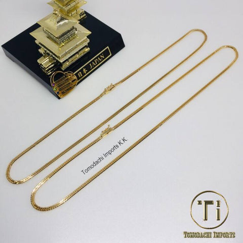 18K Japan Yellow Gold 6cut 10g 40cm Necklace