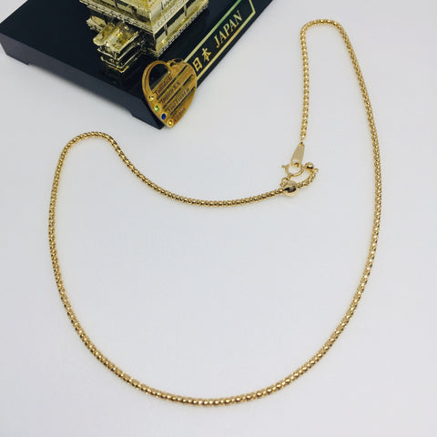 18k Japan Yellow Gold Bombata Chain