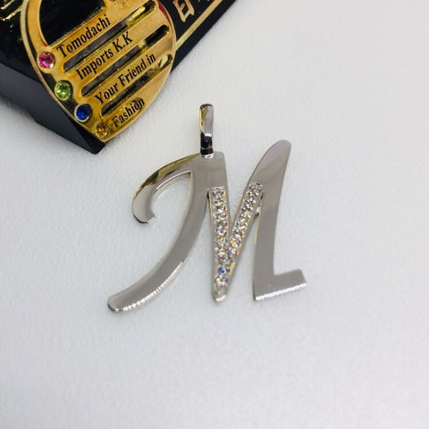 Japan Platinum PT900 Initial Top Pendant - M