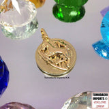 18k Japan Yellow Gold Horse Emblem Pendant