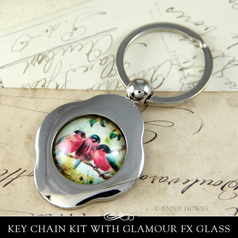 Handmade keychain with piddix Flora & Fauna images.