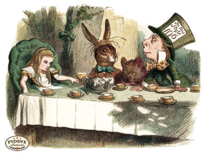 Alice In Wonderland Pdxc1183 Color Illustration