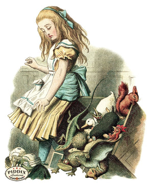 Alice In Wonderland Pdxc1187 Color Illustration