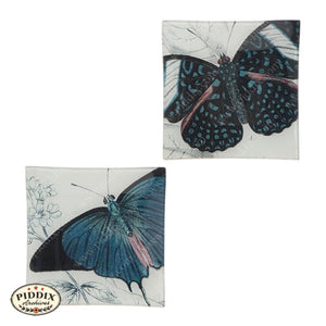 Blue Butterfly Plates -- Piddix Licensed Products Licensed Piddix Product