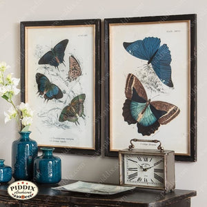 Blue Butterfly Wall Art -- Piddix Licensed Products Licensed Piddix Product