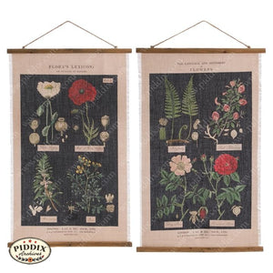 Floral Botanical Fabric Wall Art -- Piddix Licensed Products Licensed Piddix Product