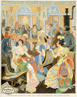 French Scenes Pdxc2115 Color Illustration
