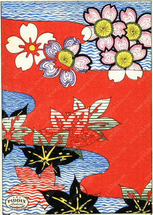 Japanese Woodblock Patterns Pdxc6403 Color Illustration