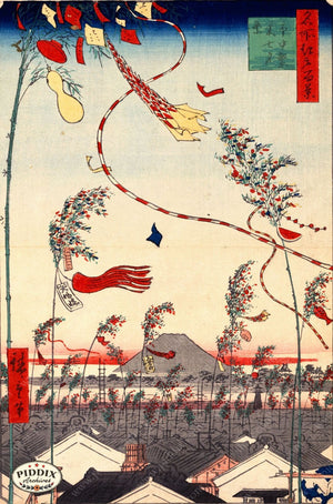Japanese Woodblocks 1850S Pdxc1063 Color Illustration