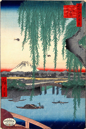 Japanese Woodblocks 1850S Pdxc1068 Color Illustration