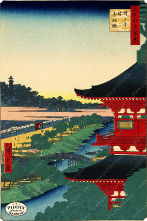 Japanese Woodblocks 1850S Pdxc1069 Color Illustration