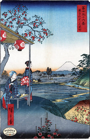 Japanese Woodblocks 1850S Pdxc3112 Color Illustration