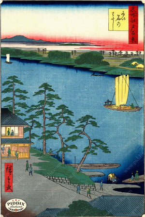 Japanese Woodblocks 1850S Pdxc3114 Color Illustration