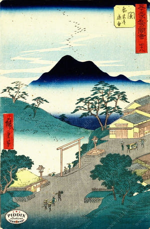 Japanese Woodblocks 1850S Pdxc5677 Color Illustration