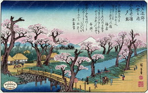Japanese Woodblocks 1850S Pdxc5679 Color Illustration