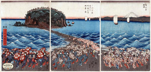 Japanese Woodblocks 1850S Pdxc5804 Color Illustration