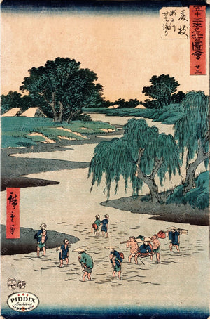 Japanese Woodblocks 1850S Pdxc5805 Color Illustration
