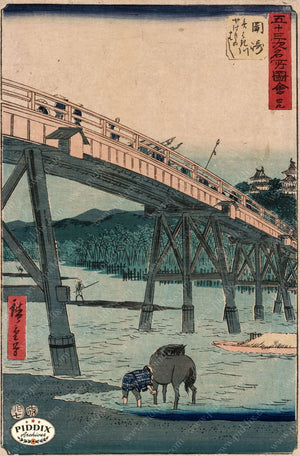 Japanese Woodblocks 1850S Pdxc5806 Color Illustration