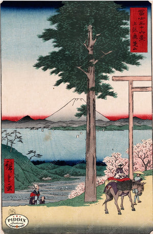 Japanese Woodblocks 1850S Pdxc5814 Color Illustration