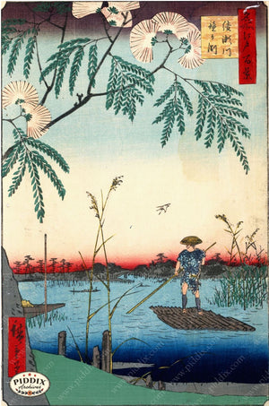 Japanese Woodblocks 1850S Pdxc5815 Color Illustration