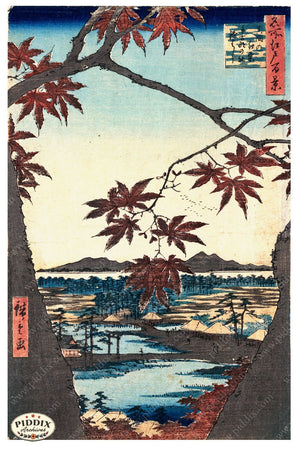 Japanese Woodblocks 1850S Pdxc5817 Color Illustration