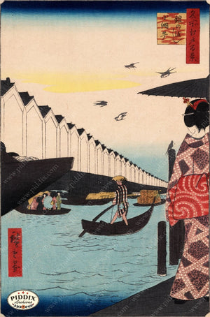 Japanese Woodblocks 1850S Pdxc5819 Color Illustration