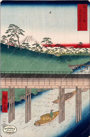 Japanese Woodblocks 1850S Pdxc5821 Color Illustration