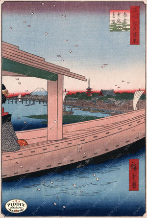 Japanese Woodblocks 1850S Pdxc5826 Color Illustration
