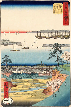 Japanese Woodblocks 1850S Pdxc5831 Color Illustration