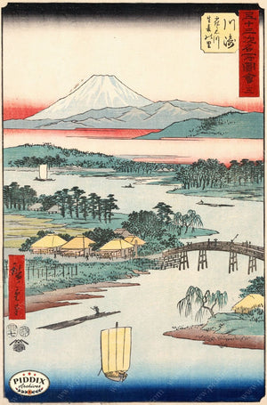 Japanese Woodblocks 1850S Pdxc5832 Color Illustration