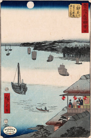Japanese Woodblocks 1850S Pdxc5833 Color Illustration