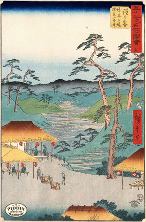 Japanese Woodblocks 1850S Pdxc5834 Color Illustration