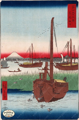 Japanese Woodblocks 1850S Pdxc5838 Color Illustration