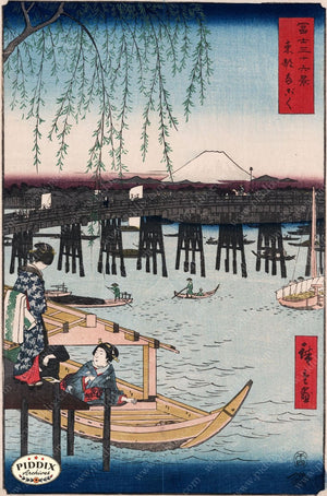 Japanese Woodblocks 1850S Pdxc5839 Color Illustration
