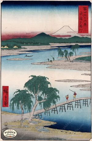 Japanese Woodblocks 1850S Pdxc5841 Color Illustration