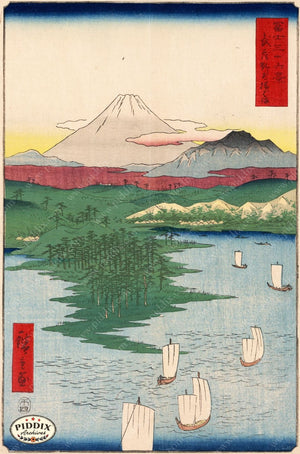 Japanese Woodblocks 1850S Pdxc5842 Color Illustration