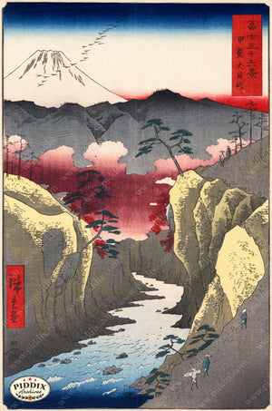 Japanese Woodblocks 1850S Pdxc5845 Color Illustration