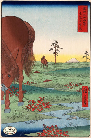 Japanese Woodblocks 1850S Pdxc5846 Color Illustration