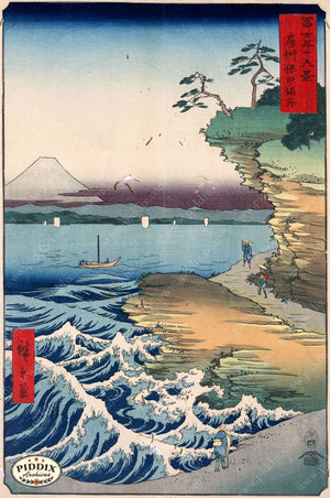 Japanese Woodblocks 1850S Pdxc5847 Color Illustration