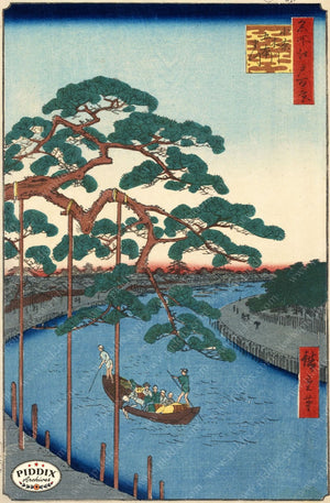 Japanese Woodblocks 1850S Pdxc5856 Color Illustration