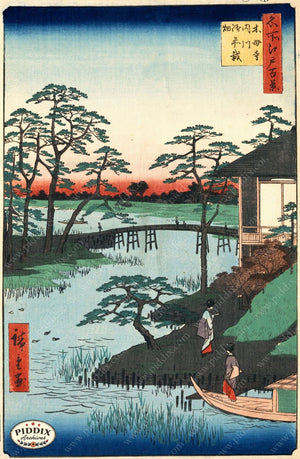 Japanese Woodblocks 1850S Pdxc5866 Color Illustration