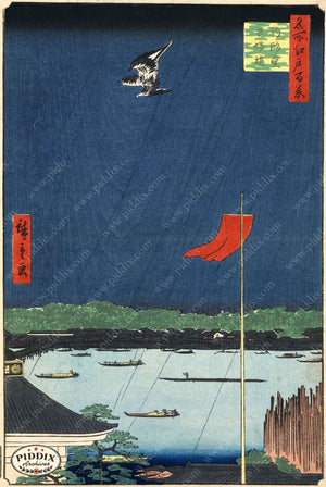 Japanese Woodblocks 1850S Pdxc5871 Color Illustration