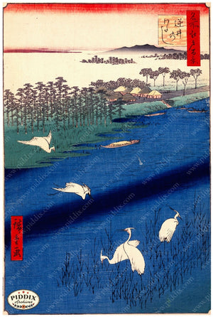 Japanese Woodblocks 1850S Pdxc5873 Color Illustration