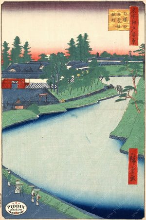 Japanese Woodblocks 1850S Pdxc5875 Color Illustration
