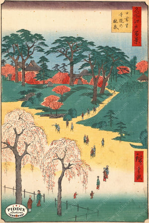 Japanese Woodblocks 1850S Pdxc5876 Color Illustration