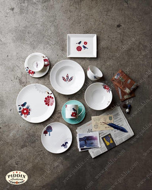 Modern Birds Flowers and Woodland Dish Set -- Piddix Licensed Products Licensed Piddix Product